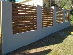4 Industrious Clever Tips: Modern Fence Interior bamboo fencing in pots.Wooden Fence On Slope living fence animals. Timber Slats, Timber Fencing, Metal Fence, Wooden Fence, Concrete Fence, Bamboo Fence, Brick Fence, Fence Landscaping, Backyard Fences