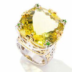 Gems en Vogue II 29.07ctw Ouro Verde & Chrome Diopside Ring  $275