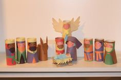 Nativity Scenes with toilet paper rolls