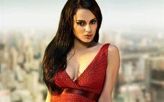 Download wallpapers Kangana Ranaut, 4k, Bollywood, Indian actress, red dress, makeup, photoshoot
