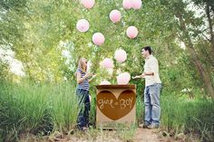 gender reveal photo. Seems like the planning would be a bit over the top for me personally, but it's still crazy cute. :)