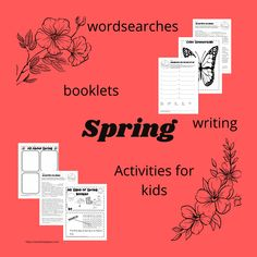 Searching for spring after a long winter? Teachables for your spring unit. Little booklets, symmetry page, alphabetize, word match and more. Great freebies for the classroom and homeschool teacher. Free Worksheets, Spring Activities, Long Winter, Booklet, Searching, Homeschool, Classroom, Teacher, The Unit