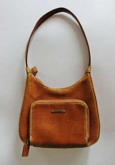 Vintage Leather Handbag Brown Leather Purse by AnEmphaticReprieve, $17.50