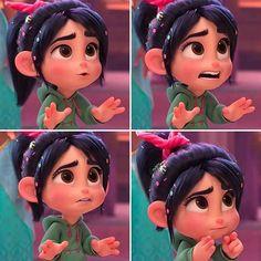 Awww look at those facial expressions 😍😍😍 Cute Girl Wallpaper, Cute Disney Wallpaper, Cute Cartoon Wallpapers, Disney Rapunzel, Disney Art, Disney Pixar, Vanellope Y Ralph, Cute Disney Characters, Vanellope Von Schweetz