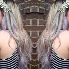 Ash Blonde with Bayalaged Pastels | Pravana Pastel | Silver | Purple | Festival Hair