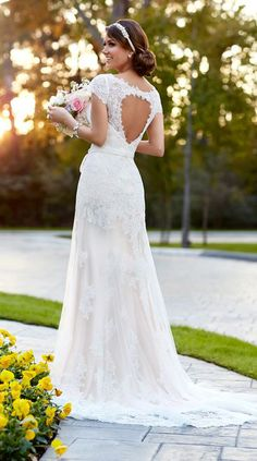 Stunning embroidered lace wedding dress