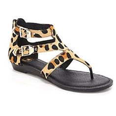 Gianni Bini Sandal🐆 Gianni Bini hair-calf leather gladiator leopard NEW sandals. Never used. Box included. Purchased these at Dillards. Gianni Bini Shoes Sandals