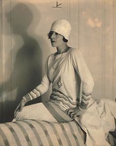 sports wear outfit from 1926, designed by Jean Patou