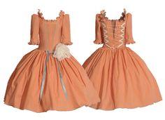 * la robe orange * 3-5 let - 3600 Kč
