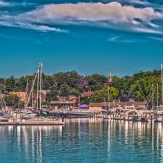 Beautiful day in the marina. #Sailboats #Yachts and more all lined up soaking up the sun.  From Port Washington, Wisconsin and Lake Michigan