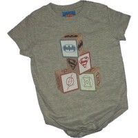 Justice League Building Blocks Onesie