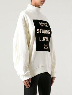 ACNE studio 'Beta' sweatshirt logo Velvet Flocked