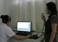Spirometry test with COSMED Pony FX desktop spirometer at Weikang Health Examination Centre Thermal Printer, Centre, Pony, Desktop, Health, Pony Horse, Desk, Health Care, Salud