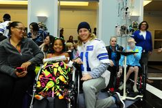 All smiles at the local children's hospital #DallasCowboys