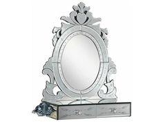 Elegant Lighting Venetian 25.5''L x 28.5''H Clear Wall Mirror