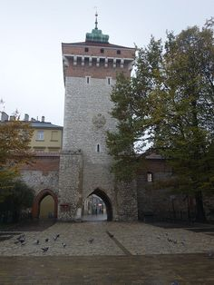 Entrance to the city of Krakow, Poland