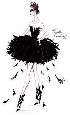 Fashion Sketch for The Black Swan