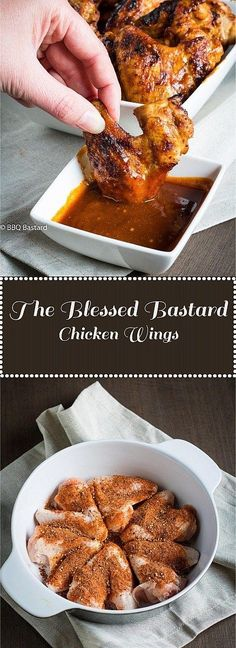Blessed Bastard Chicken Wings: the bbq bastard