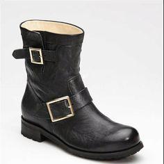 Love my Jimmy Choo biker boots