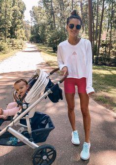Bike Shorts Round-Up & Guide - Lauren Kay Sims Cute Lazy Outfits, Short Outfits, Simple Outfits, Summer Workout Outfits, Summer Shorts Outfits, Looks Style, My Style, Lauren Kay Sims, Summer Body Goals