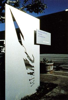 April Greiman, Exterior signage for SCIA, 1993