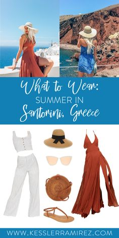 37689824e9 Outfit ideas for European Summer in Santorini, Greece. These Santorini  outfits also work for