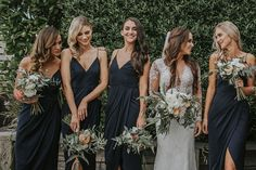 Today's elegant Waiheke Wedding is modern yet timeless with a drop dead gorgeous gown (and bride!) and a couple who are soul mates through and through. Source by lifeis_goodxo bridesmaid dresses Charcoal Bridesmaid Dresses, Black Bridesmaids, Wedding Bridesmaid Dresses, Bridesmaid Outfit, Wedding Bouquets, Charcoal Wedding, Black Tie Wedding, Black Weddings, Trendy Wedding