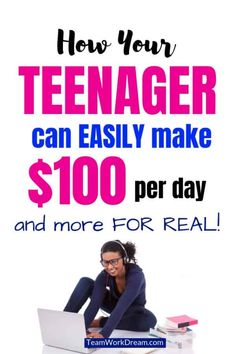 Find out how your teenager can do work from home jobs in their spare time and make money online. Earn extra cash as a teenager to buy what you need by doing online work. make money online teens Ways To Earn Money, Earn Money From Home, Earn Money Online, Way To Make Money, Earning Money, Money Today, How To Raise Money, Earn Extra Cash, Extra Money