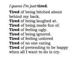 This Is How I Feel Right Now # quotes # society quotes # honest quote Tired Quotes, Now Quotes, Hurt Quotes, Quotes To Live By, Lonely Quotes, Love Dies Quotes, Ugly Girl Quotes, Self Hate Quotes, It Hurts Quotes