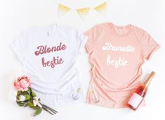 Bestie Shirts T-Shirts Bff Shirts, Best Friend Shirts, Sorority Shirts, Sorority Life, Friends Sweatshirt, Besties, Bestfriends, Funny Christmas Shirts, Popular Colors