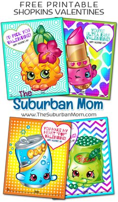 Get ready for Valentine's Day with free Shopkins Valentines printable cards…. Get ready for Valentine's Day with free Shopkins Valentines printable cards. Easy non-candy Valentines idea for girls. Valentine Day Boxes, Valentines Day Party, Valentines For Kids, Valentine Day Crafts, Holiday Crafts, Valentine Wreath, Valentine Ideas, Holiday Ideas, Valentine's Day Printables