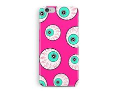iPhone 7 Case, iPhone 7 Cover, Halloween iPhone 7 Case, Halloween Phone Case, Eyeball Phone Case, Protective iPhone 7, Pink iPhone case, Eye