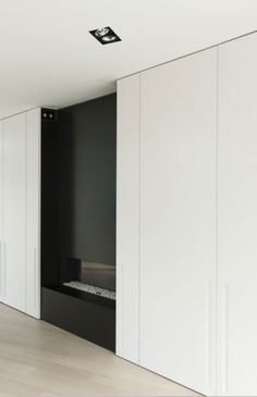 Floor to ceiling closets, House K by Graux & Baeyens Architecten _