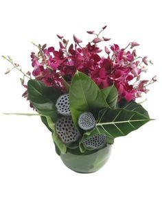 Modern Orchid Arrangement by The Flower Man, Australia