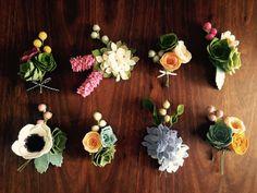felt flower & succulent pin: perfect as by shopgoldenafternoon