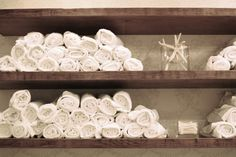 Rolled up towels in the washing room #home#hair#salon ideas