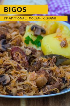 Bigos or Hunter Stew is the Polish national dish and one of the trademarks of Polish cuisine. It is a hearty stew made of a different kind of chopped meat, sauerkraut and shredded cabbage. Usually, it is enriched with a wide range of vegetables and spices. But the best part is bigos recipe is quite simple and easy to make. #Bigos #PolishHunterStew #dish #recipes #food #Europefood #homestaple #Polishnationaldish #Polishcuisine Soup Recipes, Salad Recipes, Dinner Recipes, Dessert Recipes, Hunters Stew, Kielbasa Sausage, Pork Cutlets, National Dish, Polish Recipes