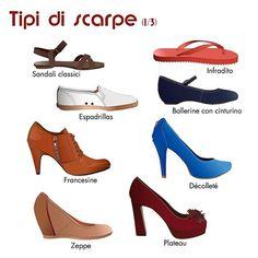 Tipi di #scarpe#vocabolarios...
