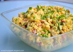 Smaczny kąsek: Sałatka curry Chicken Egg Salad, Kitchen Cheat Sheets, Polish Recipes, Fried Rice, Bon Appetit, Potato Salad, Salad Recipes, Food To Make, Curry