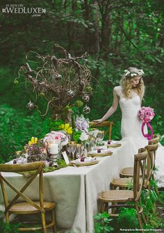 """WedLuxe: styled shoot captured by Wandering Eye Photography inspired by """"The #Hobbit"""""""