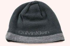 ef42b49c127 Calvin Klein CK Jacq Reversible Men s Women s Black Gray Winter Beanie Hat  - See
