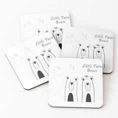 'Copy of Little Twin Bears' Coasters by Melikar