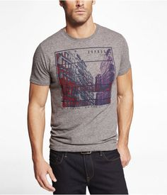 Express Mens Triblend Graphic Tee Scraper Canyon