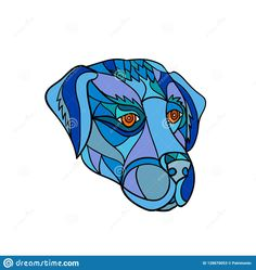 Illustration about Mosaic low polygon style illustration of a labrador or golden retriever dog head looking to side on isolated white background in color. Illustration of illustration, abstract, artwork - 128670053 Polygon, Illustration, Vector Illustration, Wildlife Art, Mosaic, Stock Images Free, Royalty Free Stock Photos, Artwork, Color