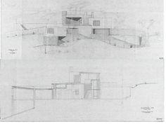 Secção A-B (outubro 1951) Fonte: Livro CODERCH CASA UGALDE HOUSE