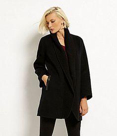 Eileen Fisher Brushed Wool Coat #Dillards