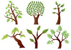 Stylized Trees Vector Pack