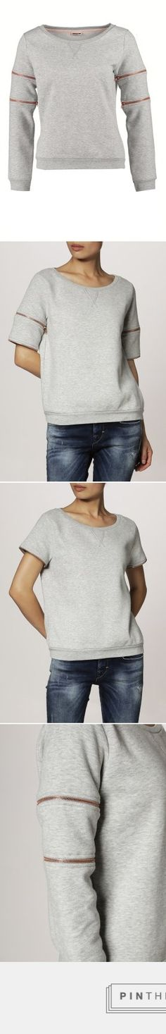 Noisy May NMMIRNA - Sweatshirt - light grey melange - Zalando.de - created via http://pinthemall.net