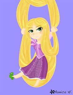 Chibi Disney Princess Rapunzel | Via Linda Imus
