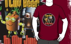 I love beer in my juice  by Valxart is available on many styles & colors on shirts, hoodies and Waterproof vinyl stickers that will last 18 months outdoors   See more at Valxart.com or http://zazzle.com/valxartgarden*  or http://zazzle.com/valxart*